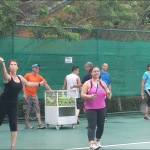 we take our boot camp guests to cardio tennis on Wednesdy's