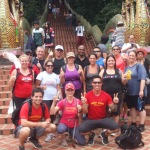This is the bottom of Doi Suthep temple before our boot camp guests climb the temple steps