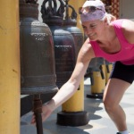 ringing the bells at Doi Suthep temple bootcamp in Thailand