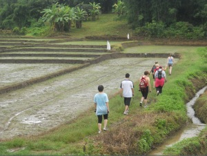 power walking at the fit camp in Thailand