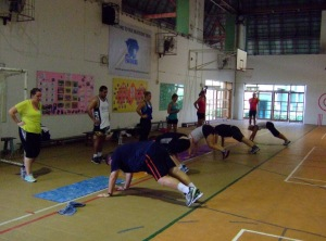 we start the fitness holiday with a fitness test