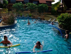swimming for weight loss at our bootcamp holiday in Thailand