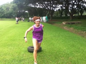 pull a tyre a great fitness and health tip