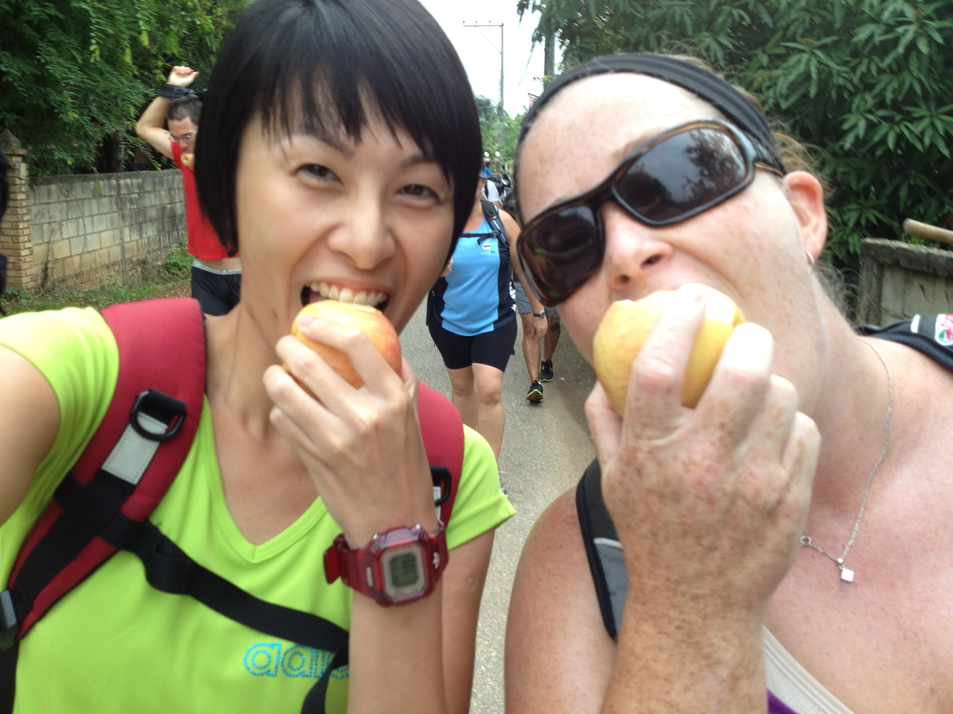we give out boot camp guests a healthy apple snack each day