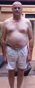 David's before photo from the Fresh Start thailand fitness holiday