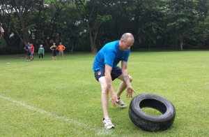 david flipping the tyre team games