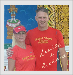 Photo of Louise and Richard founders of fitness holiday Thailand